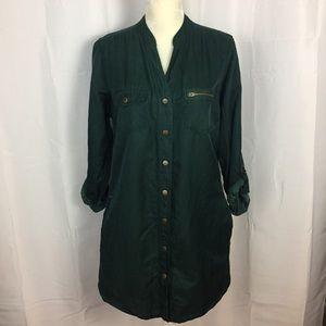Soft Surroundings green tunic blouse L